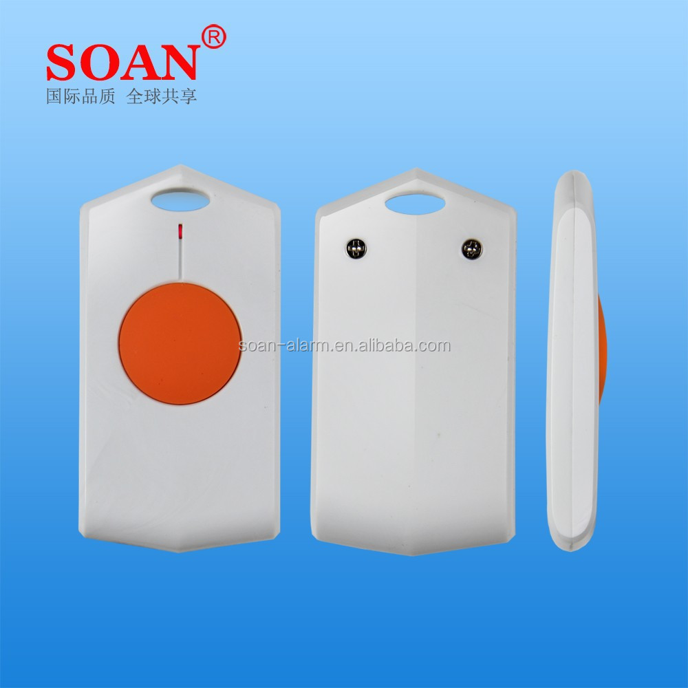 Wireles Waterproof Kids/Elderly SOS Panic Button with Medical Alert and Panic Alarm for Home Alarm System