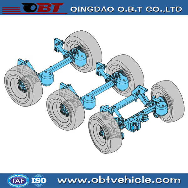Bus semi trailer air ride suspensions system