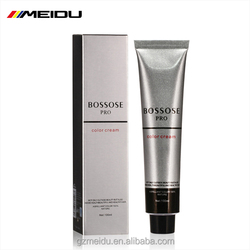 Private label low ammonia hair color cream and chart