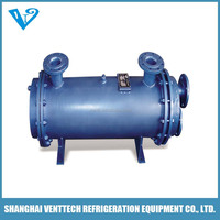 shell and tube heat exchanger for marine use