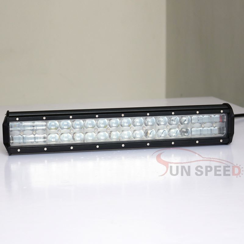 Super bright 17 inch extendable hanma led light bar, 3w chip double row offroad led light bar 108w off road parts