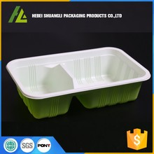 Thermoforming plastic clamshell food packaging