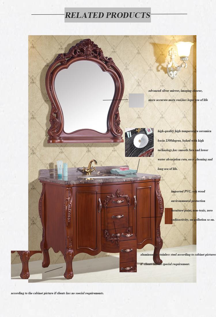 PVC Derrubar Vaidade Armário de Banheiro Moderno com Espelho
