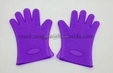 FDA Silicone BBQ Gloves Barbecue Heat Resistant Five Fingers Oven Mitts