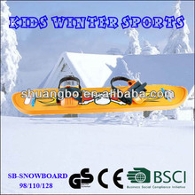 2017 Yellow Plastic Kids Snowboard for Sale Winter Toys