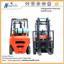 Japan original gasoline engine 1-4t LPG/gasolin forklift with buffer device with Container Mast and Side Shift