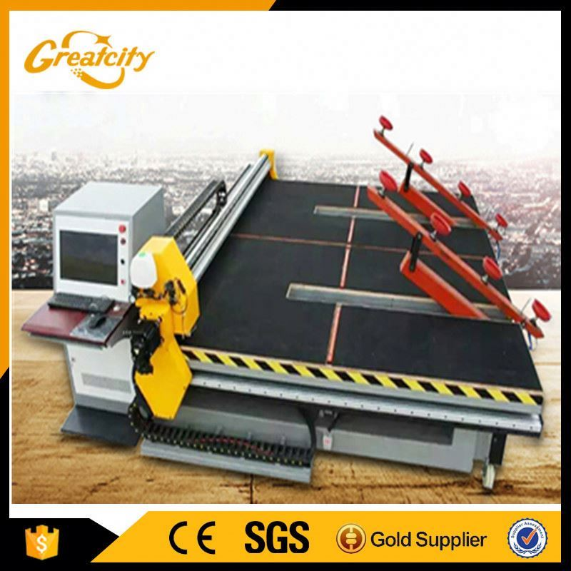 Automatic small round glass cutter mirror cutting machine with multi heads