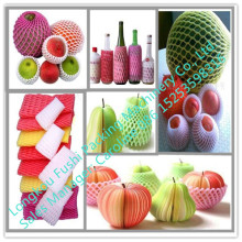 Fushi apple/orange/vegetable foam packing net extruder/epe netted foam sheet machine