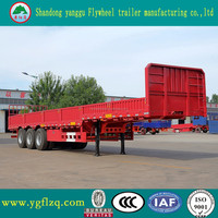tri-axle low plate semi trailer,wall side semi trailer