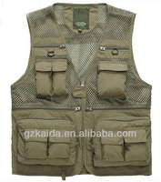 men outdoor functional &breathable fishing vest