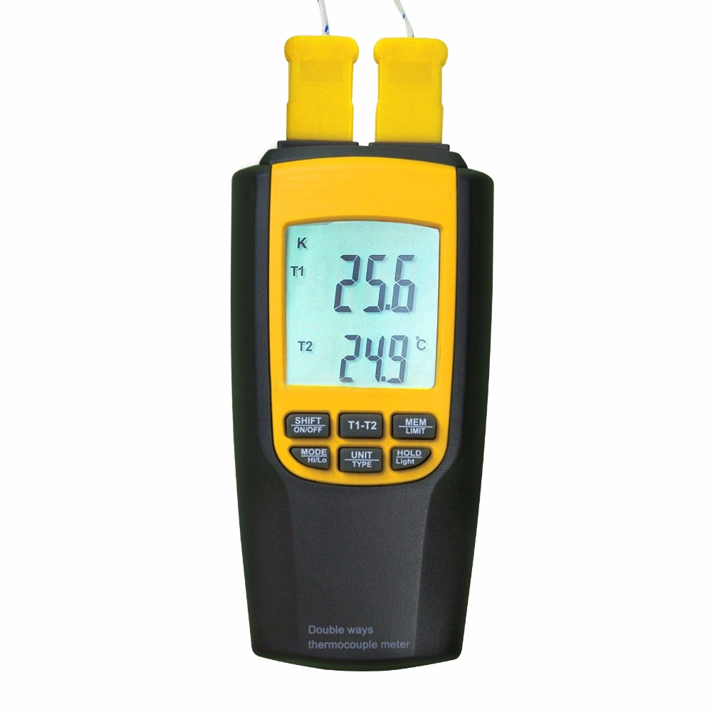 Digital <strong>K</strong> / J Type Thermocouple Thermometer 4 Probes Temperature Tester