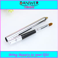 High quality Retractable lip brush with synthetic hair Mini makeup lip brush