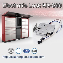 Small electronic lock for lockers or cabinet
