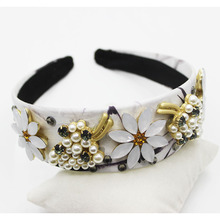 New Arrival Unique Designs Baroque Crystal Crown Headpieces Princess Wedding Dress Handmade Beads Hair Accessories