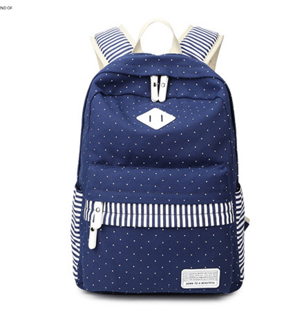 Wholesale cheap canvas backpack school bag for girls