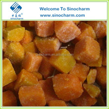 Chinese Edible Frozen Pumpkin Cut With Grade A
