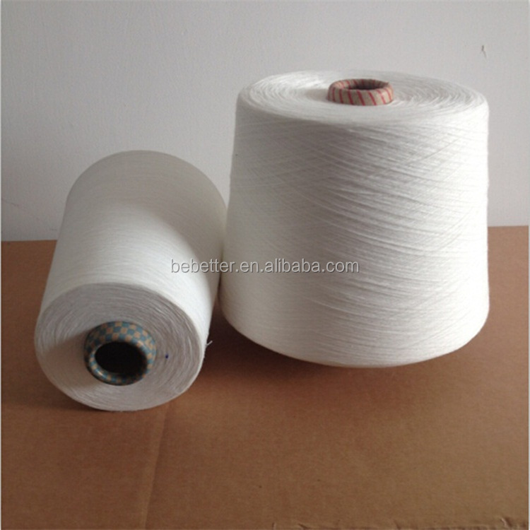 CHINA FACTORY COLORED POLYESTER RING SPUN YARN 20S 30S 40S for Knitting and weaving