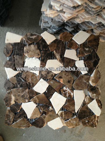 Marmer Keuken Plaat : crema marfil gemengd donker emperador bruin marmer tegels voor keuken