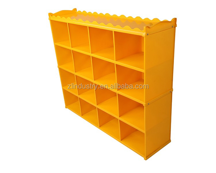 Children indoor colorful school home storage plastic rack