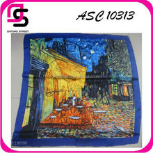 Fashionable Chinese Women PRINTED SILK SCARF Wholesale
