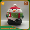 Ceramic christmas snowman candy jar