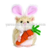 2012 Hot Sale&new products Christmas Fashionable rabbit remain close carrot plush toy