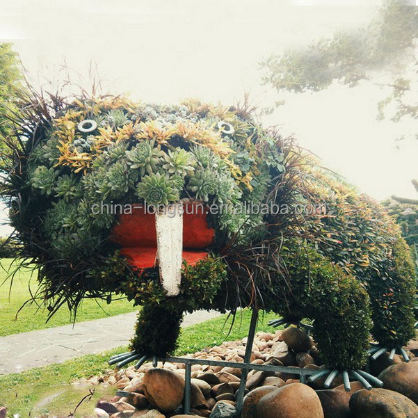 LSWS15122614 china manufacturer wholesale reserved artificial plastic leave sculpture artificial boxowood topiary