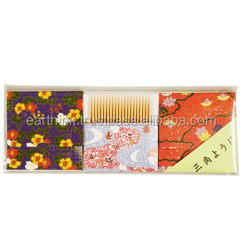 Traditional Japanese design Dental Pick Japanese oral care kit