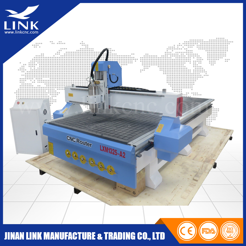 Vaccum table cnc router / 3kw cnc router for wood / cnc machining aluminum parts 1300 x 2500mm