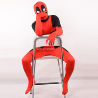 Deadpool Zentai Suit Spandex Fullbody Cosplay Costume Morph Suit For Carnival