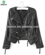 Hot sale lady's leather jackets wholesale