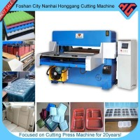 hydraulic four-column plastic bottle cutting machine
