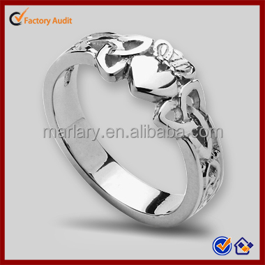 Most Popular Heart Shaped Claddagh Ring Designs For Girls
