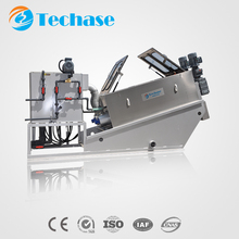TECHASE:Screw Type Sludge Dehydrator Filter Press for Chemical Wastewater Treatment (TECH-203)