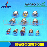 3v,6v,12v,24v,110vac,120vac,220vac,250vac 6mm metal led indicator lamp indicator lamp neon bulbs