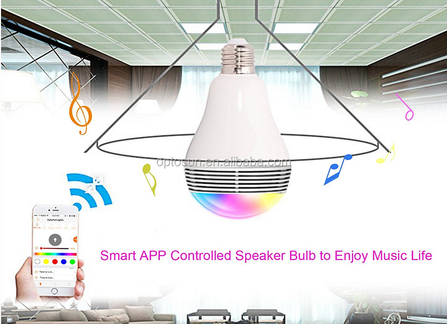 Smart Bluetooth Color Changing LED Light Bulb with Speaker