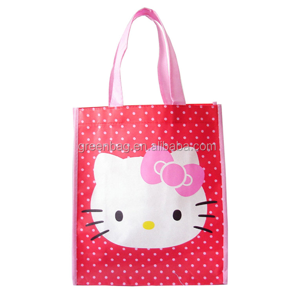 high quality non woven hello kitty reusable shopping bags