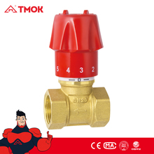 Manual regulating valve forged cw617n brass valve and natural brass high quality valve