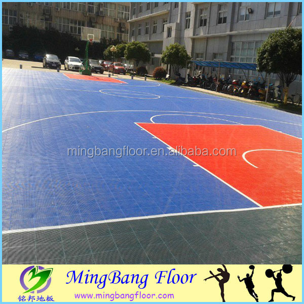 Interlocking PP modular basketball court flooring for outdoor indoor / China Artificial Grass & Sports Flooring