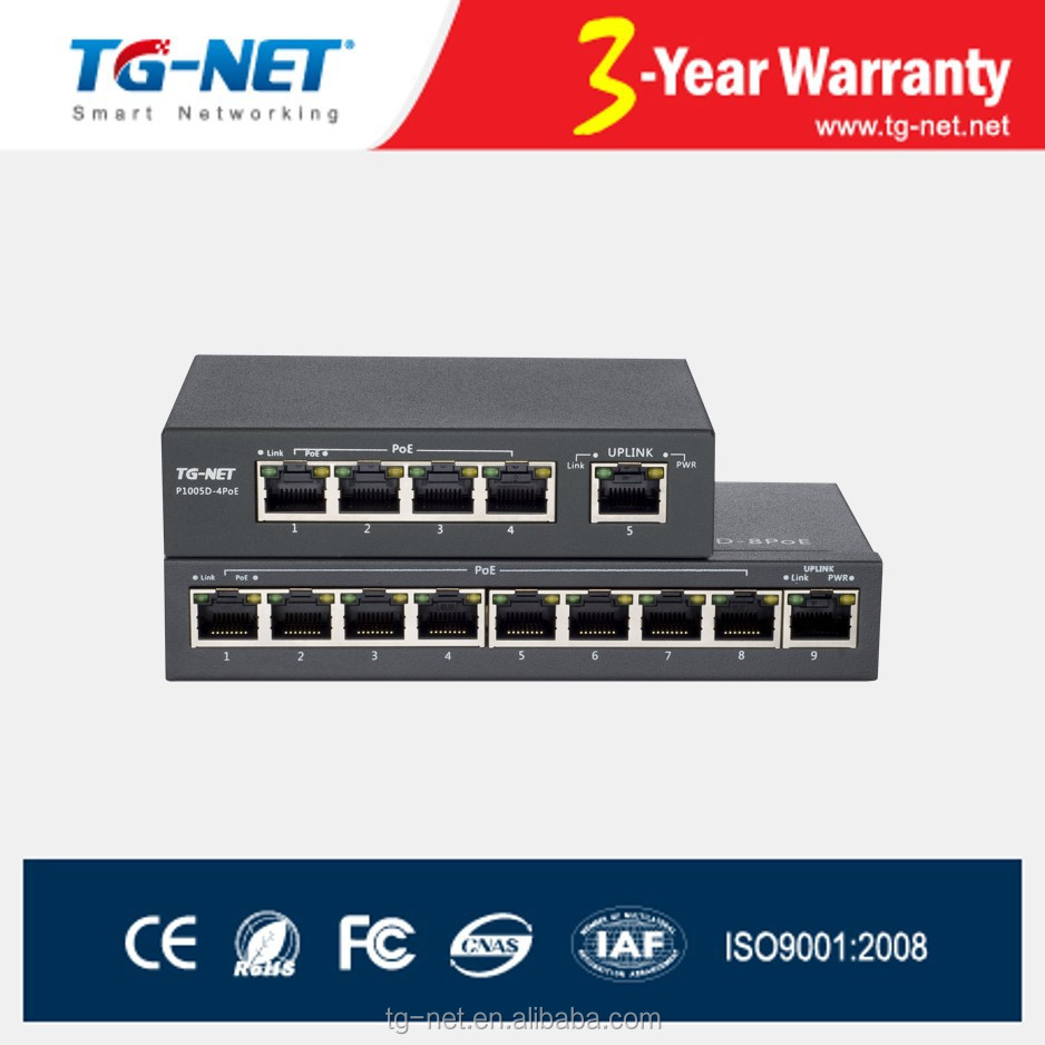 Fast Ethernet 8 Port PoE Switches