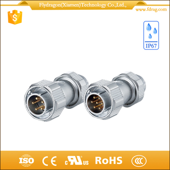 Flexible male female assemble electrical connector waterproof ip67