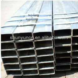 Hot Rolled Carbon steel square pipe with grade GB Q235B Q345B square hollow tube for project material made in china