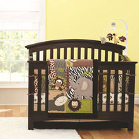 leopard pattern crib bedding sets Monkey design