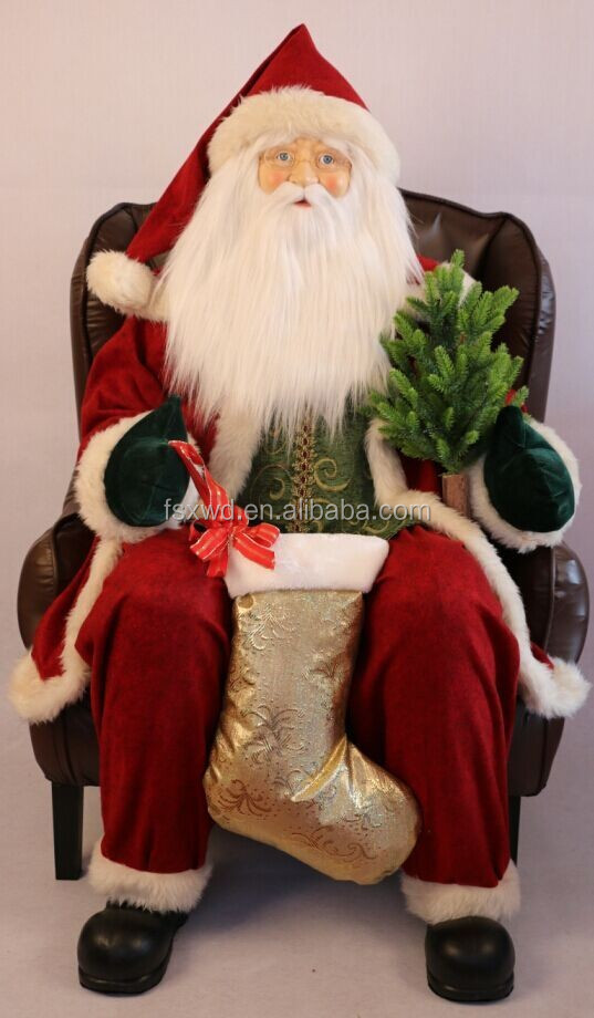 inflatable Santa sitting on chair for Christmas decoration