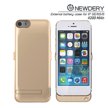 best selling in usa Full Capacity Power Case for iphone 5 With Leather Cover For Iphone5s powerbank backup power bank