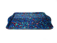 plastic serving tray/ fancy color serving tary/ durable serving tray