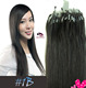 Remy Human hair factory price hot sale Best Quality micro ring loop hair extensions #1B Natural Black