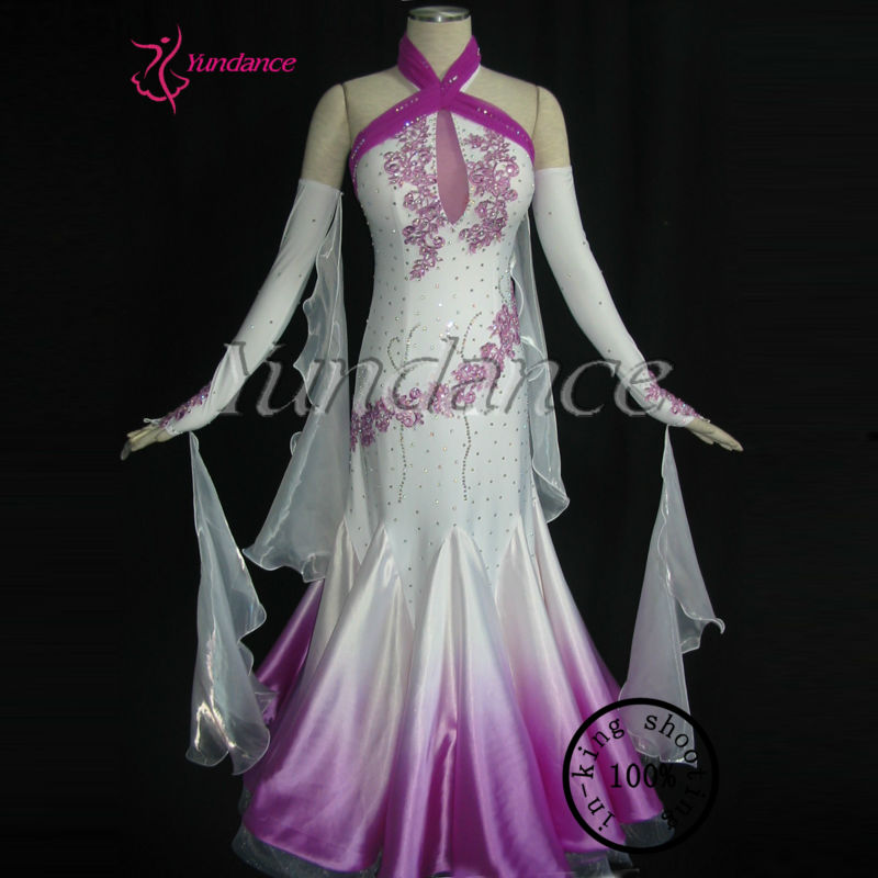 Yundance China Wind Classical Tailor-made Waltz Tango Competition Ballroom Dance Dress B-1073