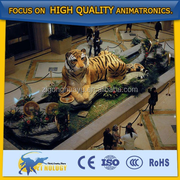 Cetnology Life-size Animatronic Animal Sculpture Tiger Model for Sale