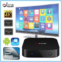 Low price Intel Atom Z3735F CUP 16GB ROM W8 tv box android tv box full hd media player 1080p